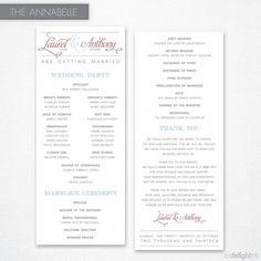 Annabelle Wedding Program (Printable)