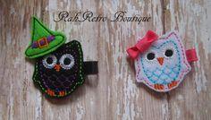 Halloween owl witch clippie rahretobowtique