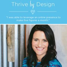 Episode 26 of #ThriveByDesign: How I Booked Over 30k in Profits Converting Leads From My Website