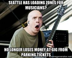 Seattle Musicians Unite to Win Parking Loading Zones. For more info click here: http://conta.cc/PuqKrU