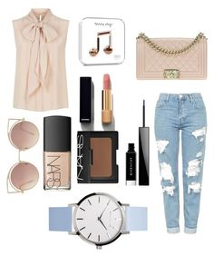 """""""Untitled #58"""" by bianca-diana-popovici ❤ liked on Polyvore featuring Topshop, MaxMara, Chanel, NARS Cosmetics, Givenchy and MANGO"""
