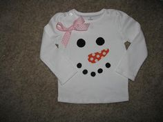 snowman shirt, looks easy enough!