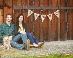 Signo de boda Save the Date firma fotos Banner por butterflyabove