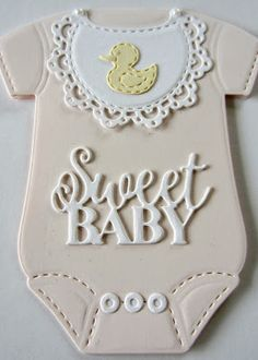PartiCraft (Participate In Craft): Baby Onesie Card Baby Frame, Sue Wilson, Onesies, Baby Onesie, Shaped Cards, New Baby Cards, Baby Christening, Card Making Inspiration, Baby Crafts