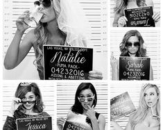 This listing is for customized Bachelorette Party Mugshot signs. Perfect for your Bachelorette bash, and an amazing photo prop for all your girls! Your custom Bachelorette Party Mugshot signs are printed on heavy duty cardstock. Shipped in a sturdy Bachelorette Party Games, Bachelorette Weekend, Bachelorette Party Pictures, Bachlorette Party Themes, Before Wedding, Maid Of Honor, Wedding Pictures, Wedding Ideas, Bridesmaids