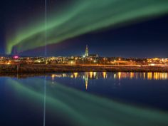 In Reykjavik, it is so cold and yet so worth it to stand outside and watch the lights dance across the sky.