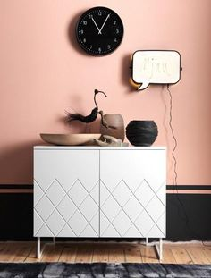 pale pink (an accent wall?)