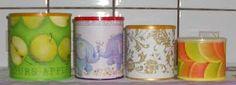 Resultado de imagem para latas pintadas e reaproveitadas
