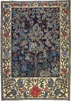 William Morris The Holy Grail Verdure Forest Animals from Tapestry in the Arts and Crafts Style. This chart is based on the tapestry Verdure which is one of the Holy Grail Series by William Morris, Henry Dearle and Edward Burne-Jones. William Morris Wallpaper, William Morris Art, Morris Wallpapers, Inchies, Art Nouveau, Tree Of Life Tapestry, Art Chinois, Art Japonais, Tapestry Design