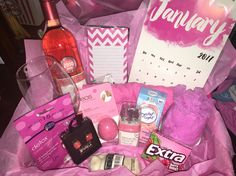Gift Basket Ideas For Friend Boss Graduation Birthday Holiday Pick A Color And Make Theme Out Of It Perfect Many Occasions