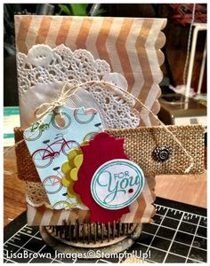 Stampin' Up! Tag A Bag Gift Card Holder www.inkandinspirations.com