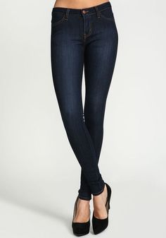 Classic Dark Wash Stretch Skinny Jeans