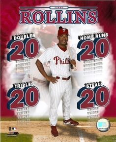 Jimmy Rollins - Portrait Plus Note: formerly assigned to Franklin Morales Game 4 2007 NL Champ Series now Photo Print x Jimmy Rollins, Mlb Spring Training, Game 4, Champs, Baseball Cards, Sports, Note, Club, Portrait