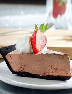 Sugar Free Chocolate Strawberry Truffle Pie