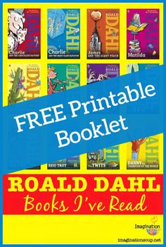 (LOVE this!) FREE printable Roald Dahl book list to keep track of all the Roald Dahl books you've read and your reviews