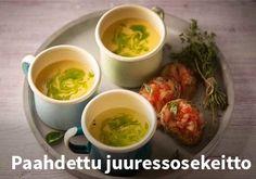 Paahdettu juuressosekeitto Resepti: Valio #kauppahalli24 #ruoka #resepti #juuressosekeitto