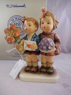 "6 1/2"" Goebel Hummel Figurine The Love Lives On #416 50th Anniversary Orig. Box"