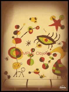 Cuadros con acrilico Imitamos a Joan Miró
