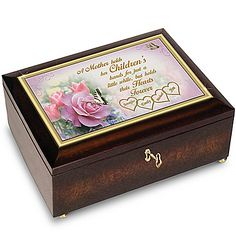 A Mother's Love Personalized Music Box With Family Names