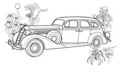 Antique Car Coloring Pages one of the most popular coloring page in Car category. Explore more coloring pages like Antique Car Coloring Pages from the Coloring. Race Car Coloring Pages, Coloring Book Pages, Vintage Coloring Books, Car Colors, Car Drawings, Free Printable Coloring Pages, Digi Stamps, Vintage Colors, Baby Animals