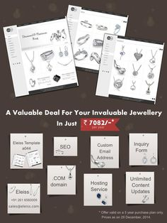 A valuable #website deal for your invaluable #jewellery. #Eleiss Template a044  Recommended for: Jewellery, Lifestyle Products, Clothes and Accessories