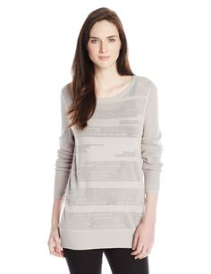 Calvin Klein Jeans Women's Texture Stripe Crew Neck at Amazon Women's Clothing store  https://www.amazon.com/dp/B00L90M6IO?m=A1WRMR2UE5PIS8&ref_=v_sp_detail_page
