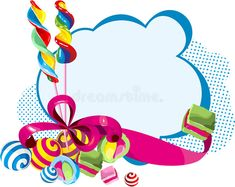 Card Candy, Red Ribbon, Candies, Card Stock, Graphic Art, Sweets, Bows, Illustration, Gifts