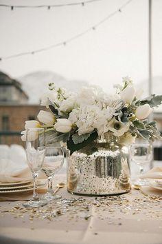 décoration mariage hiver table accessoires