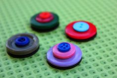 Colourful button magnets by Alittletouchofcrazy on Etsy - $11.95