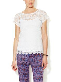 Ella Moss Cotton Crochet Blouse http://amzn.to/2dCKFqa