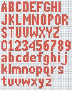 alphabet knitting chart - Google Search