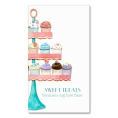 Cupcake business card bakery business card set of 50 cupcake cupcake dessert baking bakery business package business card reheart Choice Image