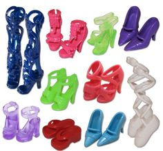 BESTSELLER! 10 Pairs of Doll Shoes, Fit Barbie Do... $3.95