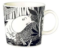 Moomintroll ( Swedish: Mumintrollet, Finnish: Muumipeikko ) Also known as just Moomin. Branded Mugs, Moomin Mugs, Tove Jansson, Small Paintings, Marimekko, Daydream, Tea Pots, Cool Stuff, Tableware