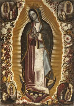 allaboutmary:  Today is the feast of Our Lady of Guadalupe, which commemorates the apparitions of Mary to St Juan Diego. These events took place in Mexico City in 1531, shortly after the Spanish conquest. The Virgin of Guadalupe is the patroness of the Americas. Her shrine is one of the world's most popular places of pilgrimage.