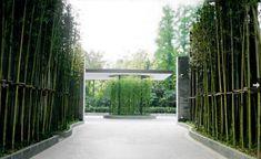 Puli Hotel, Shanghai Tropical Architecture, Architecture Plan, Landscape Architecture, Landscape Design, Entrance Signage, Entrance Design, Gate Design, Puli Hotel Shanghai, Bamboo Landscape