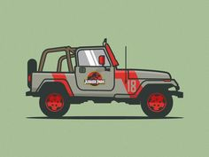 Jurassic Park Jeep - by Michael Walchalk I feel like I'm the only person who hasn't seen Jurassic World yet. Jurassic Park Tattoo, Jurassic Park Car, Jurassic World Dinosaurs, Jurrassic Park, Park Art, Jeep Drawing, Jeep Bed, Jeep Tattoo, Spinosaurus