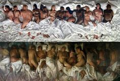"Kanye took Vincent Desiderio's ""Sleep"" & brought it to life with a modern twist."