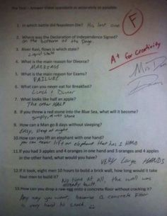 A+ For Creativity | 19 Kids Tests Answers That Will Make You Laugh