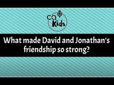 David and Jonathan's bond was serving the Lord. Watch Now! David And Jonathan Friendship, Bible Videos For Kids, 5th Class, Serve The Lord, Just Me, Bond, How To Apply, Strong, Watch