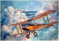A. Vallespin, Biplano De Havilland.