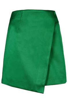 Green Lux Satin Wrap Skirt from Top shop. Would look beautiful at upcoming holiday parties!