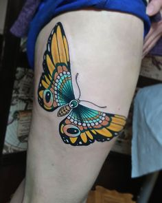 For the lovely Sam :-) #tattoo #tattoos #butterflies #butterfly #butterflytattoo #neotraditionaltattoo #neotraditional #colourtattoo #tattooart