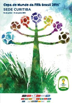 The posters of the 12 host cities of the FIFA World Cup 2014 (Brazil) - Curitiba