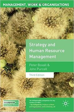 Strategy and human resource management / Peter Boxall and John Purcell