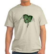 Motherboard Heart Light T-Shirt for