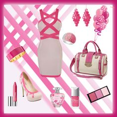 """""""Bianco e Rosa :-)"""" by lady-grimilde ❤ liked on Polyvore"""