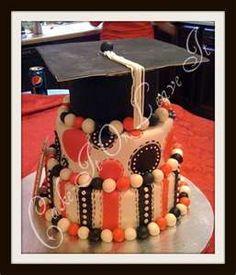 cute graduation cake i like the stripes on the bottom