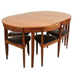 Hans Olsen Expandable Dining Table with Extension and Six Chairs [I grew up sitting at the version] Square Dining Room Table, Dinning Table Design, Teak Dining Table, Dining Furniture, Furniture Design, Small Dining Tables, Dining Sets, Dining Chairs, Small Apartment Design