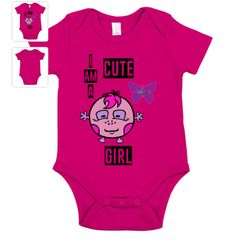Baby body I am a cute girl Baby Body, Cute Girls, Onesies, Clothes, Fashion, Kids, Outfit, Clothing, Moda
